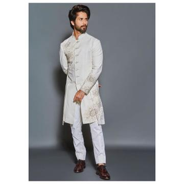 The sherwani is crisp and well embroidered with an elegant row of buttons - Fashion Models