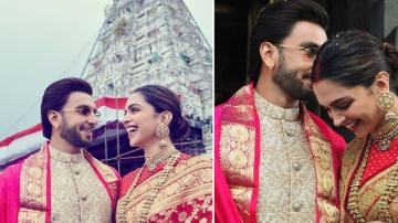 Deepika and Ranveer at Tirupathi temple for wedding anniversary