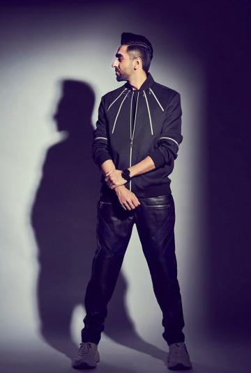 Ayushmann Khurrana was recently spotted in this black zipper jacket from Gaurav Gupta - Fashion Models