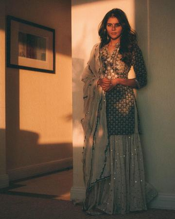 The sharara set with gota and mirrorwork from Maisara is a subtle charmer - Fashion Models