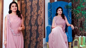 Anusree's pink outfit is cute