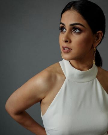 Genelia was recently clicked in this plain white ensemble from Eliatt, that we recommend for its simplicity - Fashion Models
