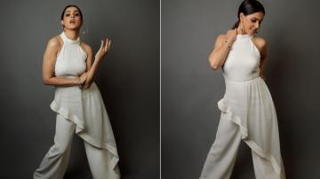 Genelia Deshmukh looking good in a plain white outfit