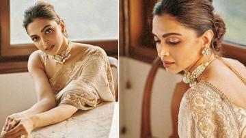 Deepika Padukone in a pristine saree will brighten your day