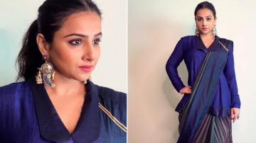Vidya Balan's ink blue saree is cool