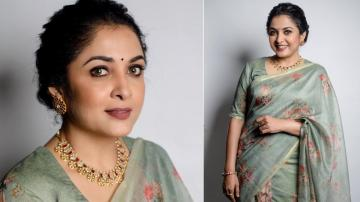 'Queen' Ramya Krishnan in a catchy saree