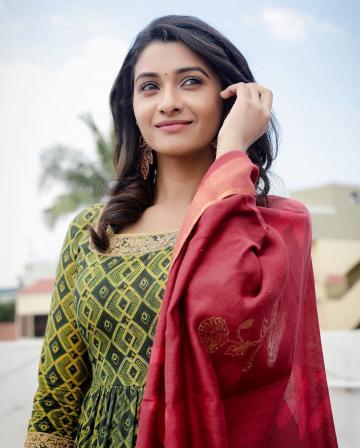 Priya Bhavani Shankar was recently spotted in this classy everyday anarkali from Merasal - Fashion Models