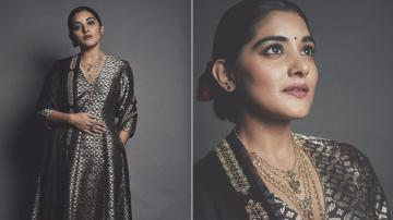 Black-gold combination never goes wrong, Nivetha Thomas!