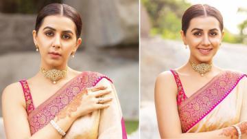 Nikki Galrani acing the traditional look