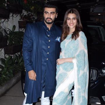 Kriti Sanon was seen at a promotional event for the movie Panipat in this sober saree from Bhumika Sharma - Fashion Models