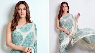 Kriti Sanon's saree is better suited for a day at the office