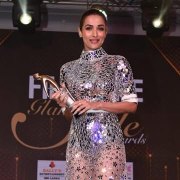 Malaika Arora arrived at the Filmfare glamour and style awards looking stunningly sexy in this mirror work gown from Atelier Zuhra - Fashion Models