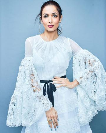 Malaika Arora was recently seen in this serene white outfit from Dany Atrache that we loved - Fashion Models