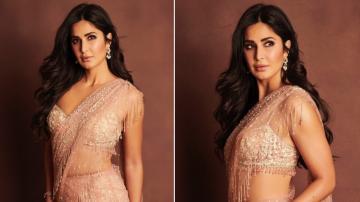 Katrina Kaif's saree is a glitzy affair