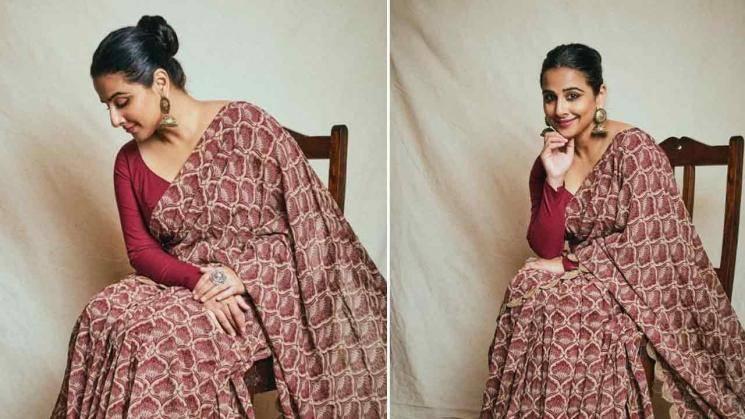 Vidya Balan in an ethnic everyday saree