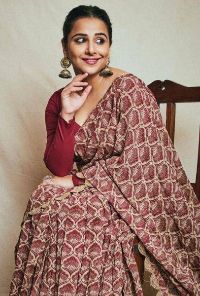 Vidya Balan was recently seen in this unique everyday saree from Bhumika Sharma - Fashion Models