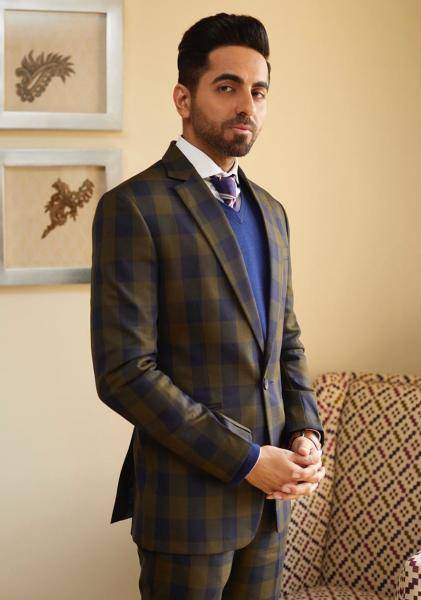 Ayushmann Khurrana was the Star of the Year at the CNN News 18 conclave in Delhi and looked the part in this suit from Karrtik D - Fashion Models
