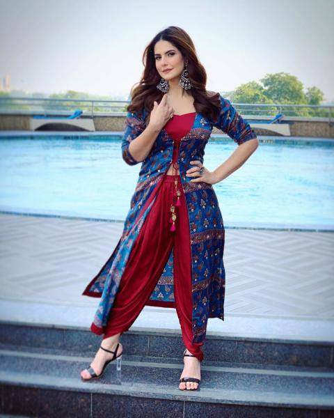 The maroon crop top and patiala pants look comfortable while the blue top is a piece we covet for both the colour and print - Fashion Models