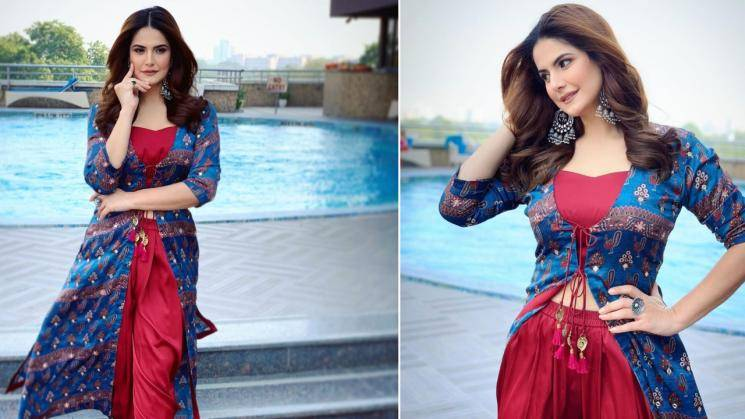 Zareen Khan's red-blue ensemble can brighten any day