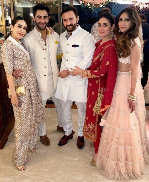 The lady attended a relative's wedding along with Saif Ali Khan who was also wearing a suit from Raghavendra Rathore - Fashion Models