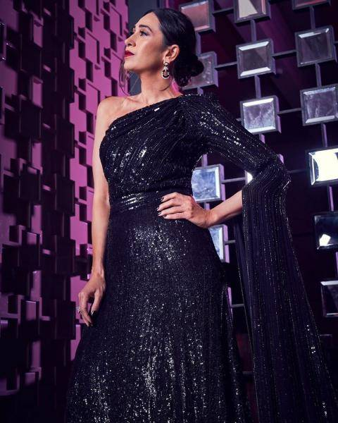Karishma Kapoor recently shot an episode of the Dancing Superstars wearing this pretty safe option from Krikor Jabotian - Fashion Models