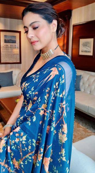 Kajol was spotted in Delhi in this rather catchy saree from Torani - Fashion Models