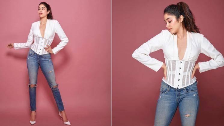 Jhanvi Kapoor's white corset is sexy