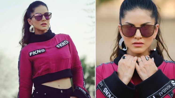 Sunny Leone looking sporty in athleisure outfit