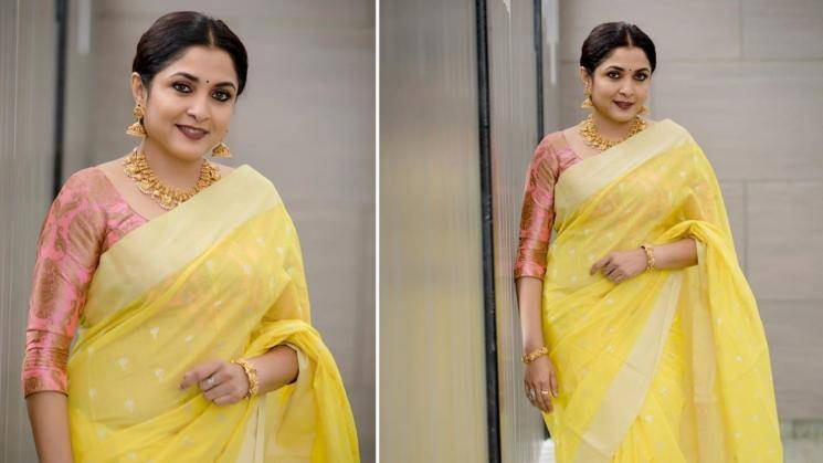 Ramya Krishnan making yellow look regal with ease - Fashion Models