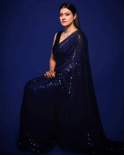 Kajol was recently promoting Tanhaji in this sequined solid colour Manish Malhotra saree that is fast becoming a celebrity cliche - Fashion Models