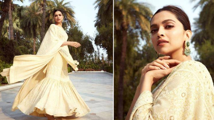 Deepika Padukone in butter yellow sharara - Fashion Actress