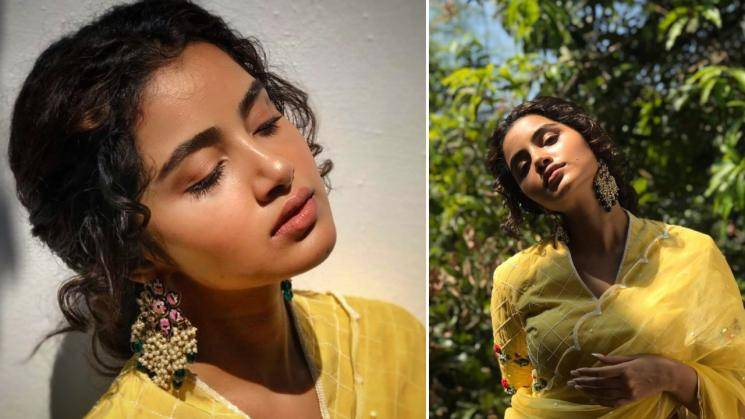 Anupama Parameswaran competing with the sun in this yellow saree -