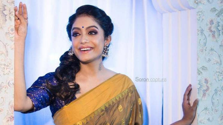 Abhirami Venkatachalam's mustard saree is a cool traditional number - Fashion Actors