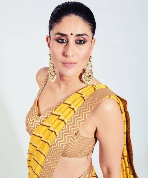 The heavy danglers from Birdhi Chand is very much up Kareena's alley and look stunning - Fashion Models