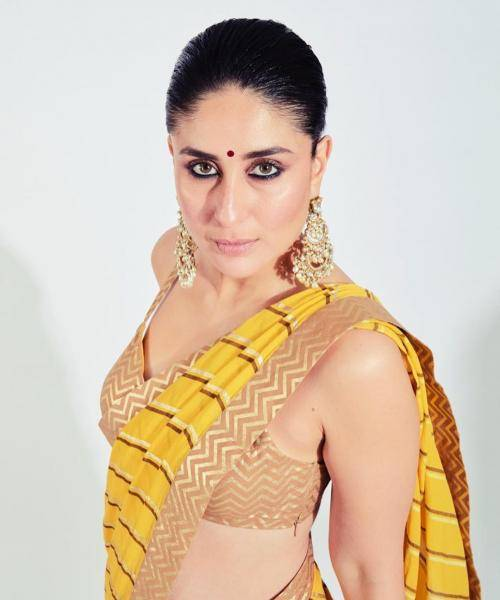 The dark kohl eyes is another stunning feature that and make Kareena look sensual - Fashion Models