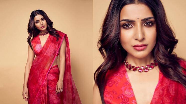 Samantha Akkineni's simple red saree is a good number