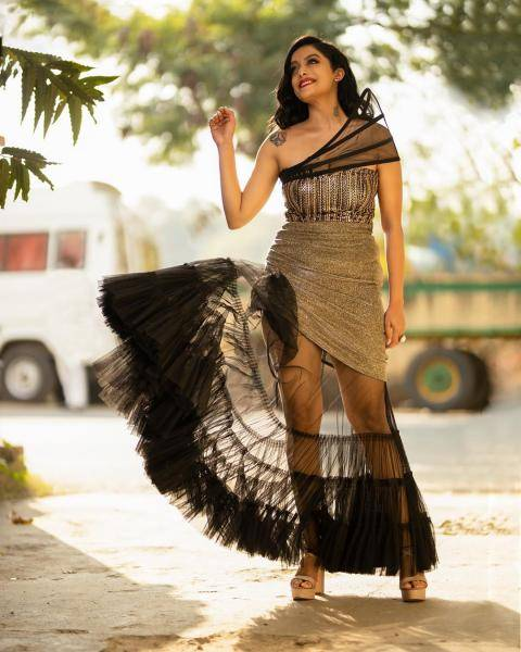 Abhirami Venkatachalam was recently seen at an award show in this gown from Studio 149 - Fashion Models