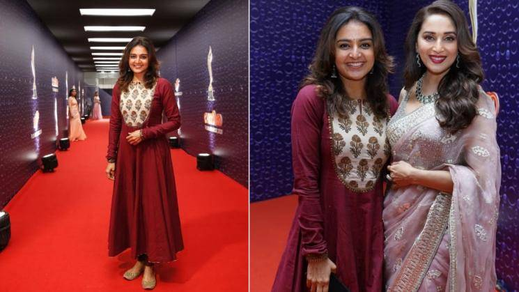 Manju Warrier is a vision in this red Anarkali