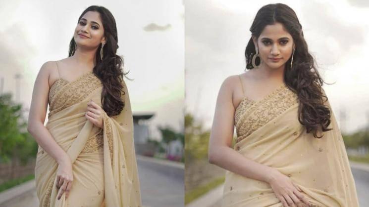 Losliya's saree look is gorgeous!