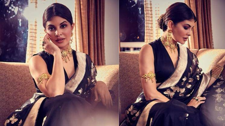 Jacqueline Fernandez is a pretty butterfly in black