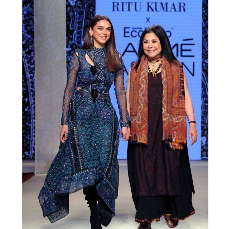 Aditi Rao Hydari was the show stopper for desinger Ritu Kumar at the Lakme Fashion Week and she was stunning as always - Fashion Models