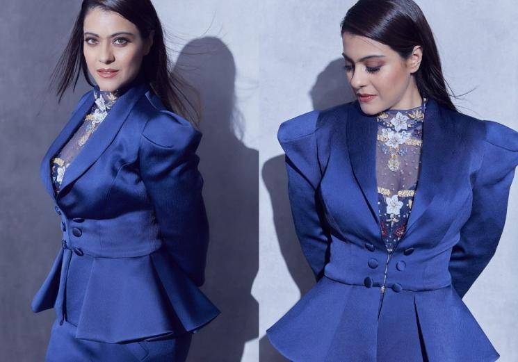 Take a look at Kajol's blue suit look