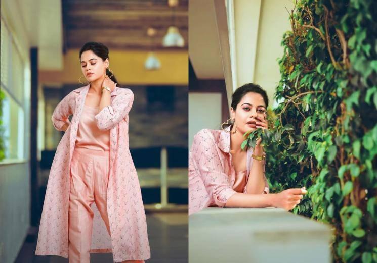 We're loving Bindu Madhavi's pink outfit...