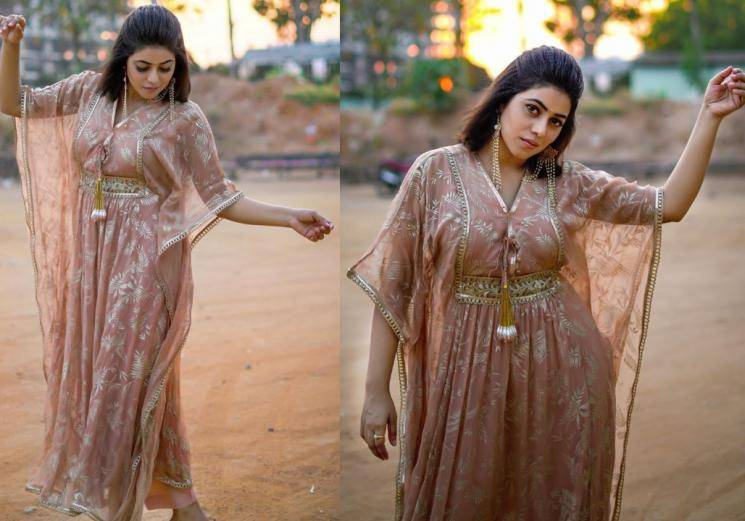 We aren't sure this was a good outfit for Shamna Kasim