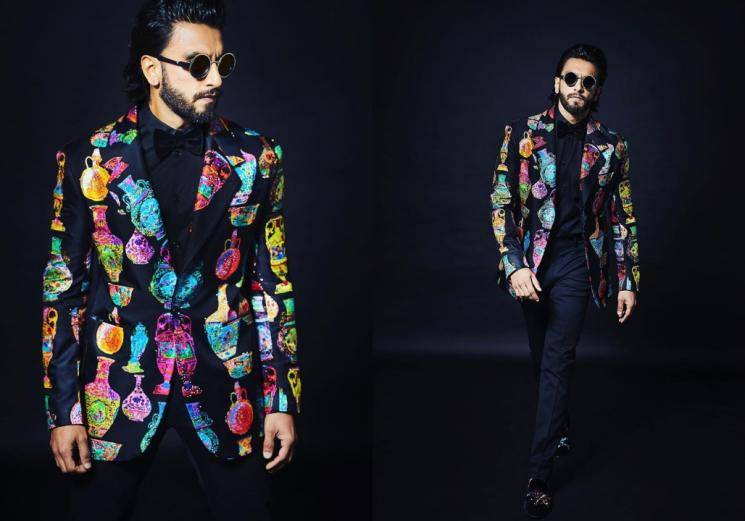 Ranveer Singh is not as outlandish as usual...