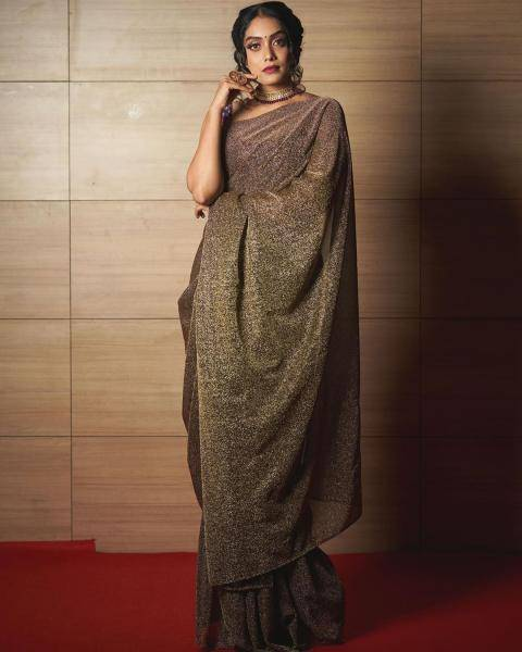 Abhirami Venkatachalam was spotted at an event in this lovely saree from Studio 149 - Fashion Models