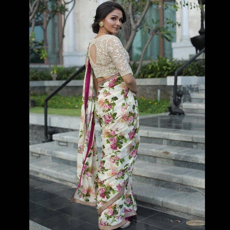 The lacey boat-neck blouse was supposed to give the saree a boss-lady look, but it simply looks mismatched - Fashion Models