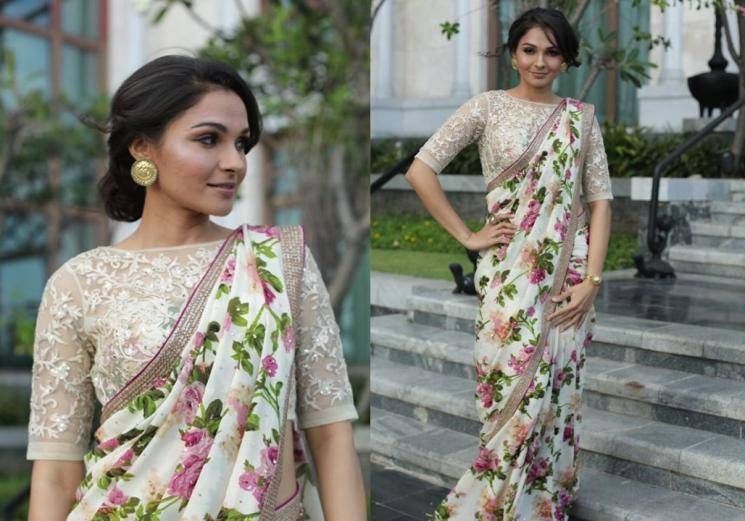 We miss the grace saree used to give Andrea Jeremiah  -