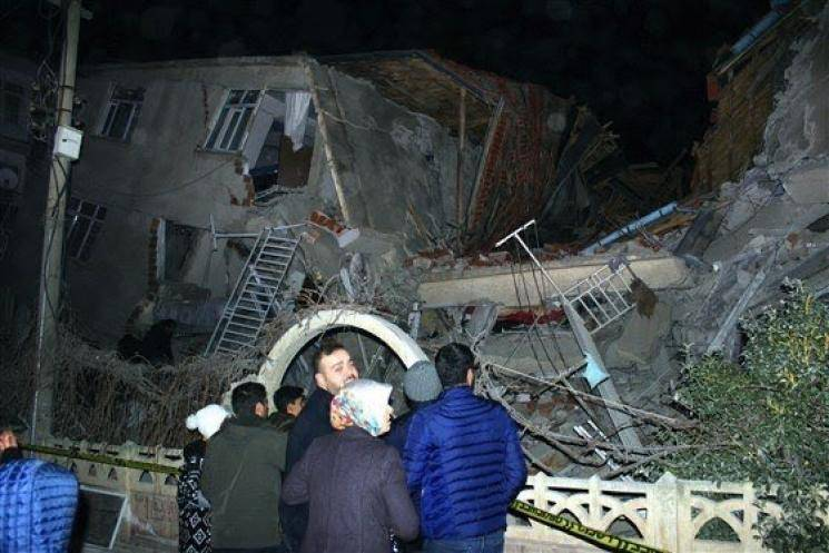 Earthquake of magnitude 6.8 jolts eastern Turkey - Daily news