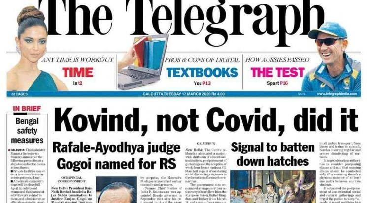 Show cause notice to Telegraph over headline: Centre out to test  gutsy newspaper's spine - Daily news
